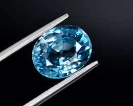 5.90 Ct Gorgeous Color Natural Vibrant Blue Zircon