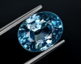 8.35 Ct Gorgeous Color Natural Vibrant Blue Zircon