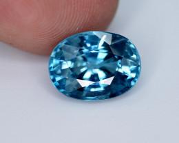 5.25 Ct Gorgeous Color Natural Vibrant Blue Zircon