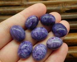 8 pcs charoite cabochons for ring (G0773)