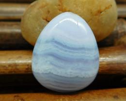 Blue lace agate cabochon (G0782)