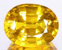 4.02 Cts Natural Corundum Yellow Sapphire Beryllium Heated Madagascar