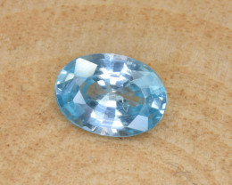 Natural Blue Zircon 1.62 Cts Top Luster Gemstone