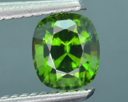 Rare 1.30 ct Green Zircon Great Luster Unheated Cambodia SKU.7
