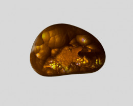 Fire Agate, 12.97ct - Mined in Mexico | Certified by IGI