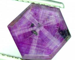 Rarest 6.65 ct Bluish Pink Kashmir Sapphire Trapiche