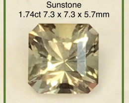 Designer Cut Dichroic 1.74ct Golden-Green Sunstone - Oregon US, H611