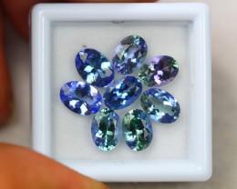 7.02ct Natural Violet Blue Tanzanite Oval Cut Lot D566