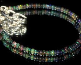 17 Crt Natural Ethiopian Welo Smoked Opal Beads Bracelet 566