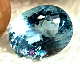 7.08 Carat Fancy Brazilian Maxixe Beryl - Superb
