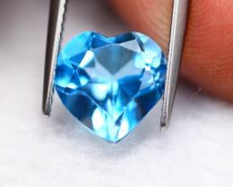 3.91ct Blue Topaz Heart Cut Lot V4652