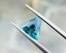 1.50 Ct Natural Greenish Blue Transparent Tourmaline Gemstone