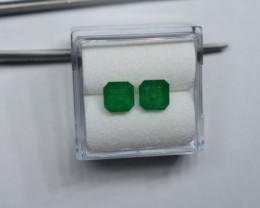 1.83 Carat Panjshir Emerald Pair