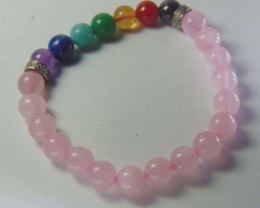Beautiful beads  Bracelet  rose Quartz and mix colors stones