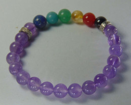 Beautiful beads Bracelet amethyst and mix colors
