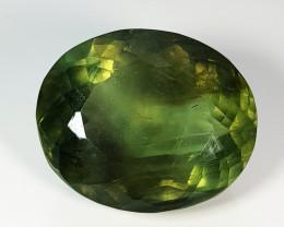"""111.10 ct """" Huge Gem """" Oval Cut  Natural Bi - Color Fluorite"""