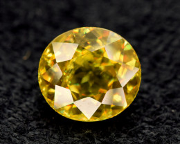 1.70 Carats Round Cut Sparkling full fire sphene titanite gemstone