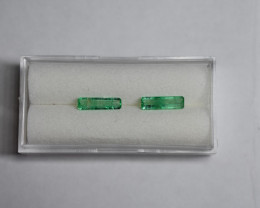 1.25 Carat Natural Green Panjshir Emeralds