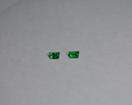 0.23 Carat Trapezoid Step-cut Vivid Green Panjshir Emerald