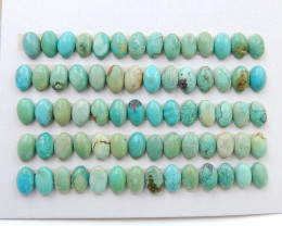 56 PCS Natural Oval Turquoise Gemstone Cabochons, 6x4x3mm H7393
