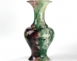 Beautiful Rainbow Fluorite Vase,Collection of treasures, Gemstone Collectio