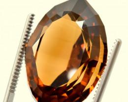 67 Carats Top Deep Champange Color fancy Cut Topaz Gemstone