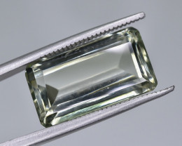 8.59 Crt Natural Prasiolite Green Amethyst Faceted Gemstone.( AG 72)