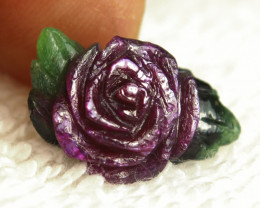CERTIFIED - Natural Ruby Zoisite Rose - Gorgeous