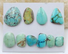 10 PCS Natural Turquoise Flatback Gemstone Cabochon, 25x19x4mm, 10x9x4mm H7