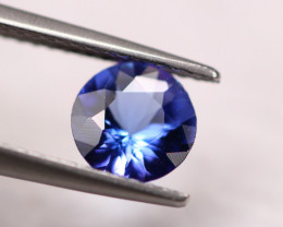 0.88ct Violet Blue Tanzanite Round Cut Lot GW4207