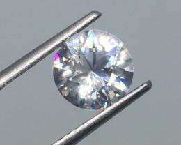 2.04 Carat VVS Zircon - Diamond White Color - Color Flash Quality !
