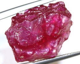21.65 CTS- RUBY RASBERRY RED   ROUGH  ADG-36