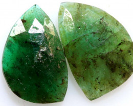3.12 cts - EMERALD  FACETED  PAIR  ADG-101