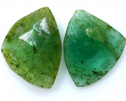 2.19 cts -EMERALD  FACETED  PAIR   ADG-107