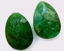 2.29 CTS -EMERALD  FACETED  PAIR   ADG-113