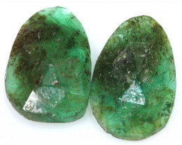 2.97 CTS -EMERALD  FACETED  PAIR ADG-116