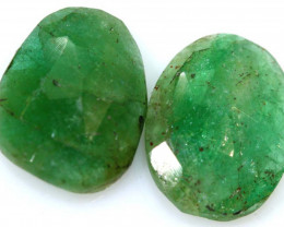 3.88 CTS -EMERALD  FACETED  PAIR ADG-111