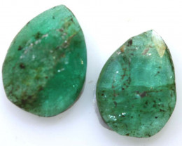 2.13 CTS -EMERALD  FACETED  PAIR ADG-115