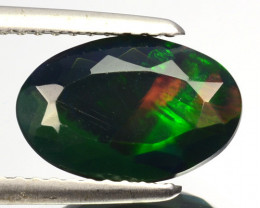 1.30 Cts Smoked Ethiopian Multi-Color Play Opal Oval Cut