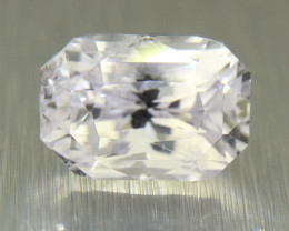 Certified White Sapphire  3.12ct Amazing brilliance/well cut (00746)