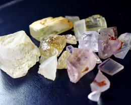 397 CT Natural - Unheated Multi Fluorite Rough lot