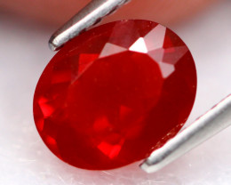 Fire Opal 1.00Ct Natural VS Blood Red Mexican Fire Opal B3105