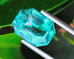 3.40 carats fancy cut  Blue color Tourmaline Gemstone From Afghanistan