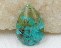 32Cts Natural Chrysocolla Gemstone Cbaochon ,Chrysocolla Beads D281