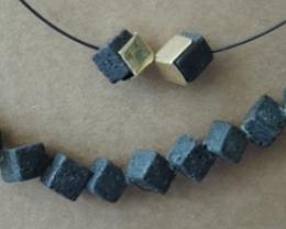 5pcs 6*6*6mm peridot pendant beads