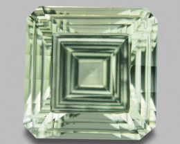 7.78 CT PRASOILITE TOP CLASS CUT GEMSTONE PR8