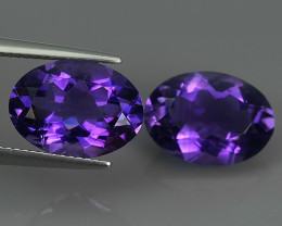 10.40 CTS MAGNIFICENT NATURAL PURPLE-VIOLET AMETHYST NICE OVAL~CUT