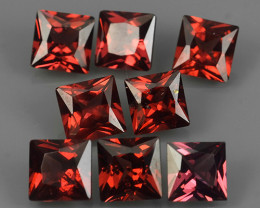 6.25 Cts_Oval Cut_Marvelous_Electric Red_Africa_Sizzling_Rhodolite_~