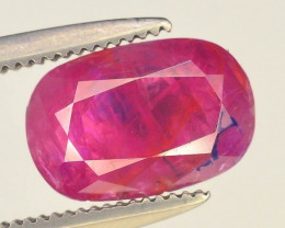 Top Color 2.05 ct Pinkish Red Ruby ~ Afghanistan