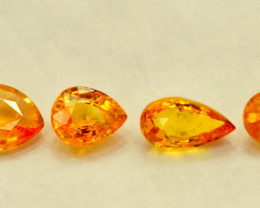 No Reserve - 3.60 Carats Lot of Yellow sapphire Gemstoone 4 pcs